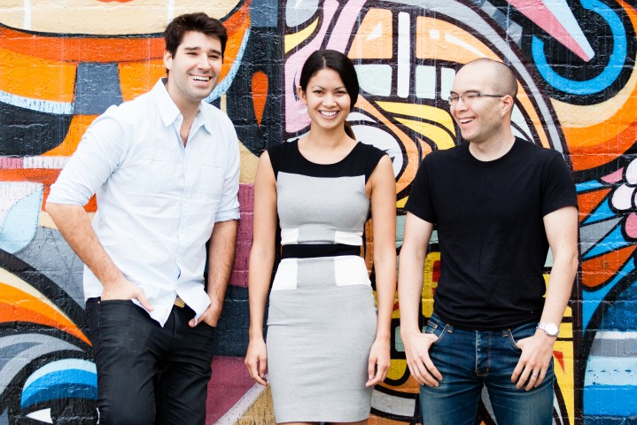 Canva Crew- Cliff Obrecht COO, Melanie Perkins CEO and Cameron Adams Chief Product Officer.