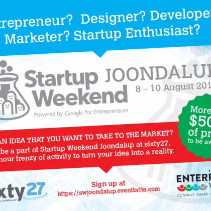 Startup Weekend Joondalup At Enterprise Week, 8-10 August