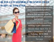 Would You Like To Build An eCommerce Business That is 90% Automated?