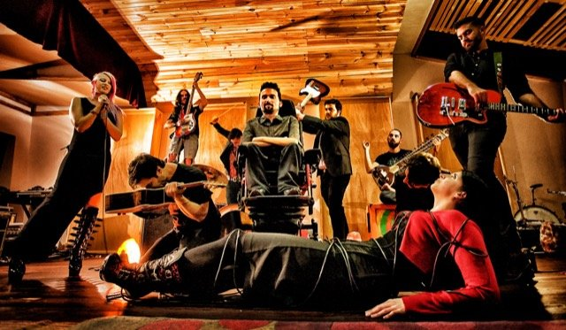 Gigger Concept Image - Photo by Tim Masih - Taken at Sumo Sound Studios - Includes members of Sidewalk Diamonds - Arkayan - Deadlock - Archer and Light - The Morning Night - Fear is a Liar