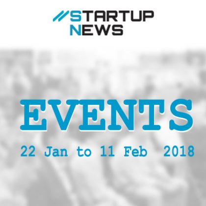 Your next few weeks of Startup Events starts here …