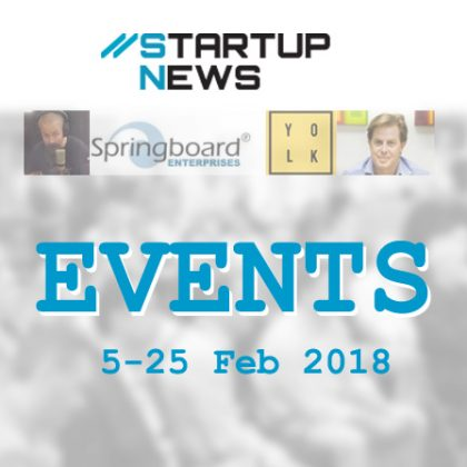 Startup Events – 5th to 25th Feb 2018