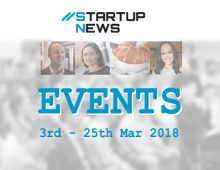 Startup Events: 3rd to 25th March