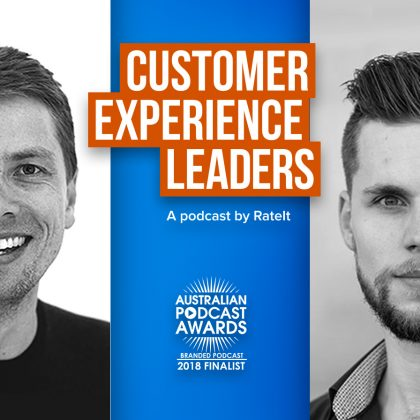 RateIt's CX podcast made finalist in the 2018 Australian Podcast Awards