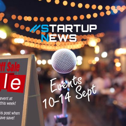 Startup Events: 10th to 14th September