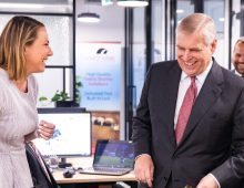 Duke of York visits FLUX co-working space: Pictorial