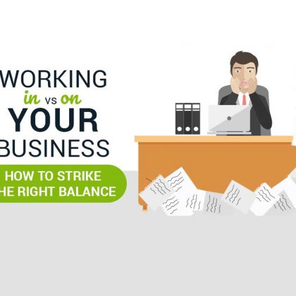Working IN versus ON your business – striking the right balance {Infographic)}