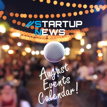 All your August startup events here…