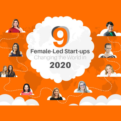 Female startups changing the world {infographic}