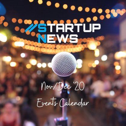 Startup Events – Nov/Dec 2020